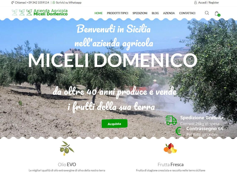 Sito E-Commerce per Azienda Agricola Miceli