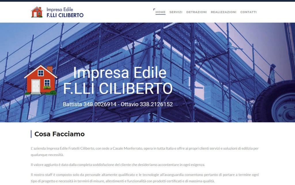 Impresa Edile Fratelli Ciliberto - Sviluppo del sito Aziendale
