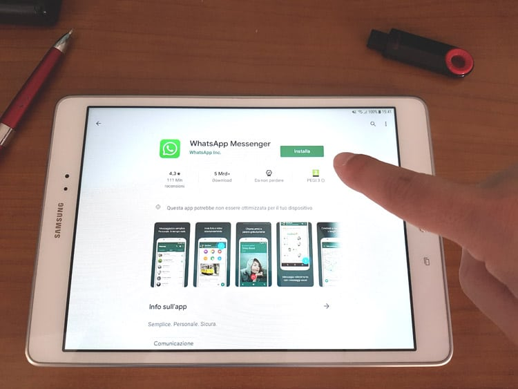 Come installare WhatsApp su Tablet