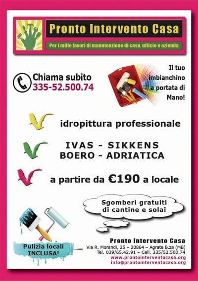 Flayer Pronto Intervento Casa